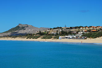 Porto Santo Island - Partial view of Porto Santo beach