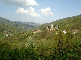 View of Maggiolo in the comune of Mongiardino Ligure.