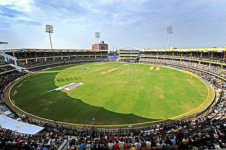 Holkar Stadium in Indore. Maharani Usha Raje Cricket Stadium Indore - panoramio.jpg