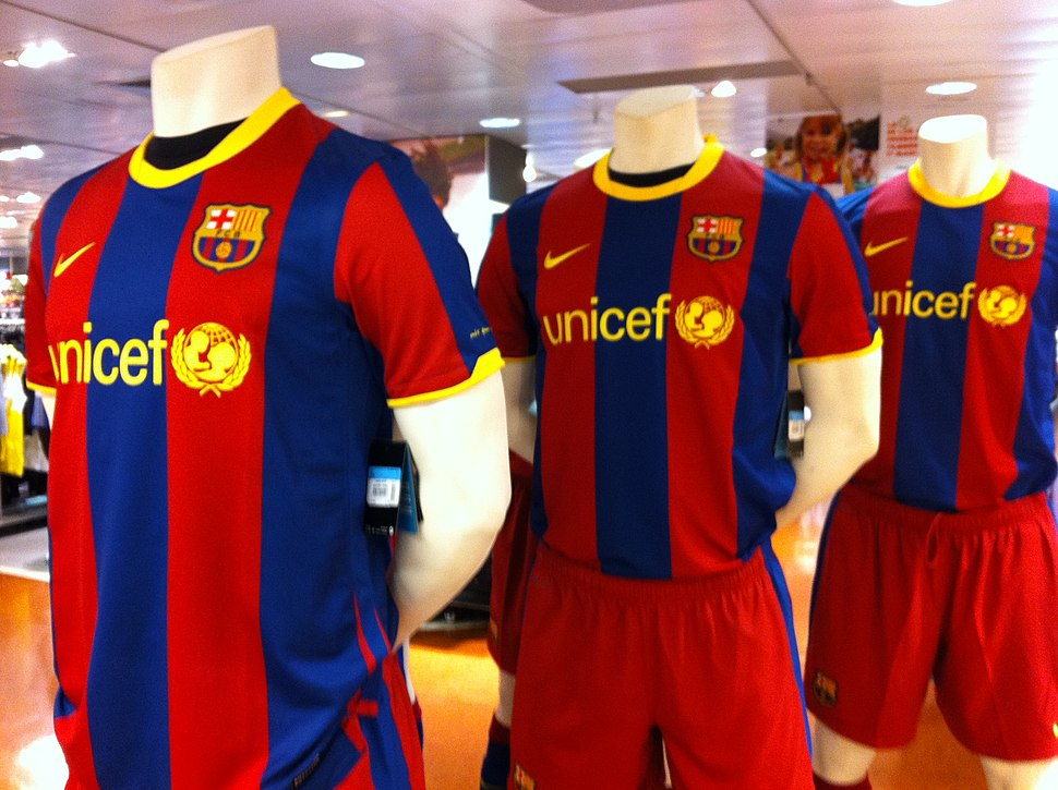 Maillots fc barcelone