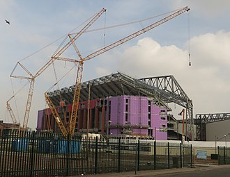 Anfield - The Main Stand redevelopment in March 2016