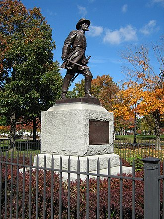 William Wells (general) - Statue of Wells in Battery Park (Burlington, Vermont). An identical statue can be found in Gettysburg National Park.