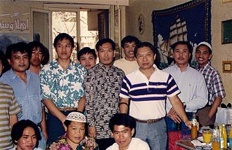 Aleem Said Ahmad Basher - Aleem Said (center), president of the Philippines Students' Association in Cairo, and fellow students jointly received late Governor, then Congressman Mamintal M. Adiong, Sr. (third from right) during an official visit in Egypt in 1995