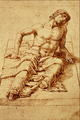 Man Laying on a Stone Slab - Andrea Mantegna.png