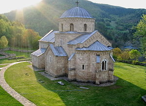 Gradac Monastery - Monastery church today.