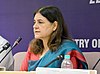 "Maneka Sanjay Gandhi addressing the inaugural session of ""Consultation on National Nutrition Mission in India Accelerating Essential Nutrition Actions"", in New Delhi on September 22, 2014.jpg"