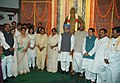 Manmohan Singh, the Speaker, Lok Sabha, Shri Somnath Chatterjee, the Union Ministers and others paid tributes at the portrait of Babu Jagjivan Ram on his birth centenary, in New Delhi on April 05, 2007.jpg