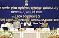 Manmohan Singh arrives at the All India Conference of Directors GeneralInspectors General of Police -2012, in New Delhi. The Union Home Minister, Shri Sushil Kumar Shinde, the Minister of State for Personnel.jpg