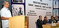 Manohar Parrikar addressing the gathering on the occasion of handing over of four indigenous Naval Systems.jpg