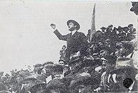 Manuel Joaquim de Sousa hacer frente a una manifestación del 1 de mayo, del Parque Eduardo VII en Lisboa.