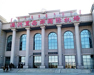 Manzhouli Xijiao Airport an international airport serving Manzhouli, a city in the autonomous region of Inner Mongolia in the Peoples Republic of China