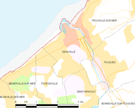 Mapa obce Deauville