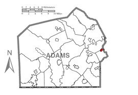 Map of Abbottstown, Adams County, Pennsylvania Highlighted.png