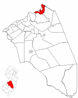 Bordentown Township, New Jersey - Image: Map of Burlington County highlighting Bordentown Township