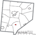 Map of Clinton County Ohio Highlighting Martinsville Village.png