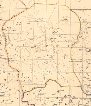 Map of Darfur in July 1914.png