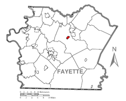 Location of Dunbar in Fayette County