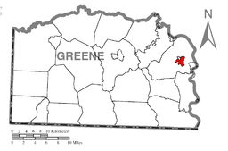 Map of Fairdale, Greene County, Pennsylvania Highlighted.png