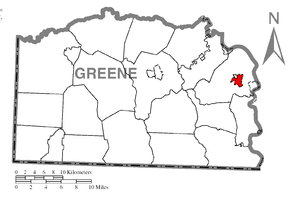 Fairdale, Pennsylvania - Image: Map of Fairdale, Greene County, Pennsylvania Highlighted