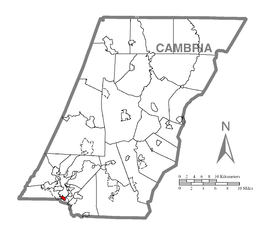 Map of Ferndale, Cambria County, Pennsylvania Highlighted.png