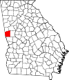 Map of Georgia highlighting Troup County.svg