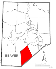 Map of Independence Township, Beaver County, Pennsylvania Highlighted.png