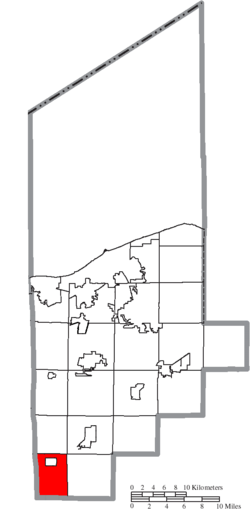 Location of Rochester Township in Lorain County