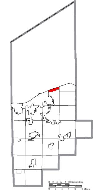 Sheffield Lake, Ohio - Image: Map of Lorain County Ohio Highlighting Sheffield Lake City
