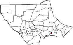 Map of Lycoming County, Pennsylvania highlighting Muncy