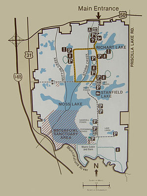 Muscatatuck National Wildlife Refuge - Map of the property