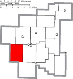 Location of Sharon Township in Noble County