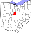 State map highlighting Morrow County