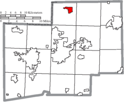 Location of Hartville in Stark County