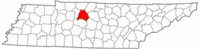 Map of Tennessee highlighting Davidson County.png