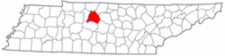 Location in Davidson County and the state of Tennessee