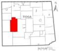 Map of Tioga County Pennsylvania Highlighting Shippen Township.PNG