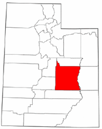 Map of Utah highlighting Emery County.png