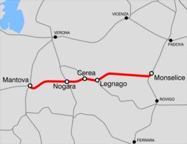 Ferrovia Mantova-Monselice - Wikipedia