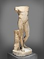 Marble statue of the Diadoumenos (youth tying a fillet around his head) MET DP277734.jpg