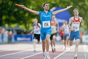 2011 European Athletics Junior Championships - Marco Lorenzi was part of the Italian gold winning 4x400 m relay team.