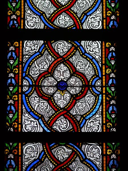 Stained glass windows of Saint-Vincent's church in Marcq-en-Barœul (Nord, France).