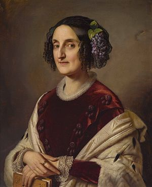 Princess Maria Ferdinanda of Saxony - Maria Ferdinanda of Saxony, grand duchess of Tuscany, by Friedrich Kaulbach (1851)