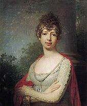 Maria Pawlowna, Porträt von Wladimir Lukitsch Borowikowski (Quelle: Wikimedia)