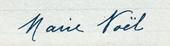 Signature de Marie Noël