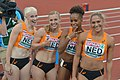 Marije van Hunenstijn (links), lid van de Nederlandse 4 x 100 m-ploeg EK 2016 (dag 4).jpg