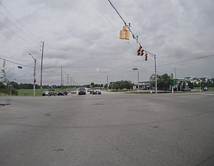 Intersection of Highway 37 and Southport Road in Perry Township