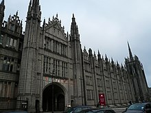 Marischal College appearing dilapidated prior to restoration