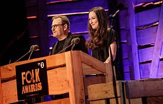 BBC Radio 2 Folk Awards - Event hosts, Mark Radcliffe and Julie Fowlis