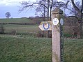 Marker post on The Jack Mytton Way - geograph.org.uk - 1074388.jpg