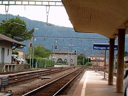 Melano village train station